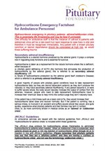 Hydrocortisone Emergency Factsheet Ambulance Personnel