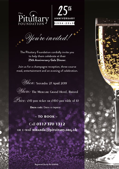 Pituitary Foundation 25Th Anniversary Ball A5 Invite FOR WEB